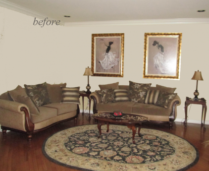 Staged Living Room Chester County PA ReImagine Interiors Design And Home S