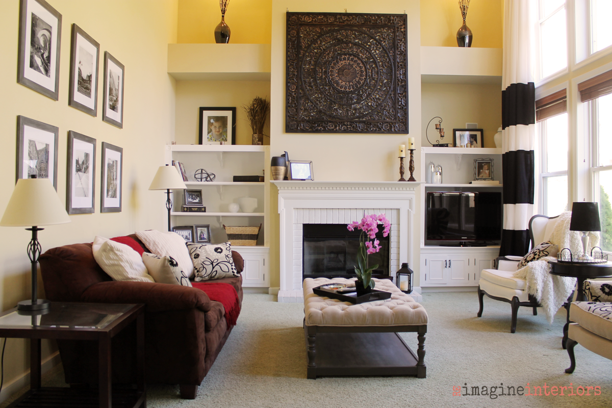 Living Room Staging Redesigned Staged Living Room Before And After In Chester County