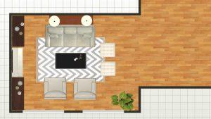 reimagine interiors 2d floor plan