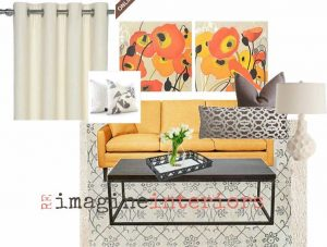 Re-design cheerful living room