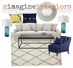 mood board living room