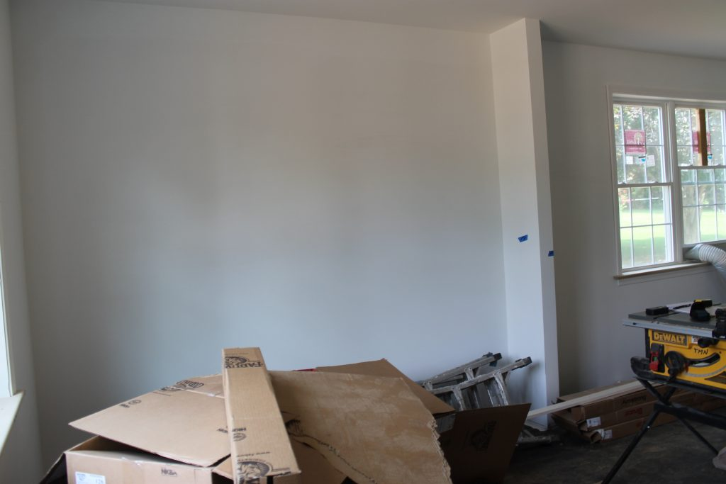 living room before staging