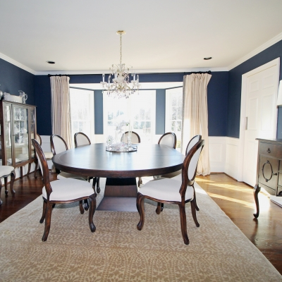 interior design project in malvern pa - dining room redesign