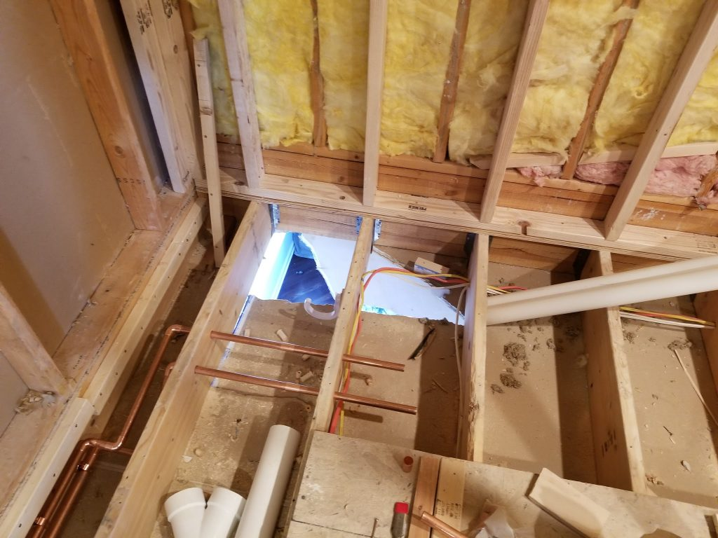 adding a bathroom on the second floor
