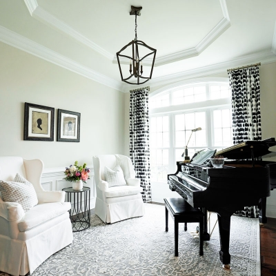 living room, dining room, guest bedroom design, soft neutrals, texture and pattern for an updated traditional design