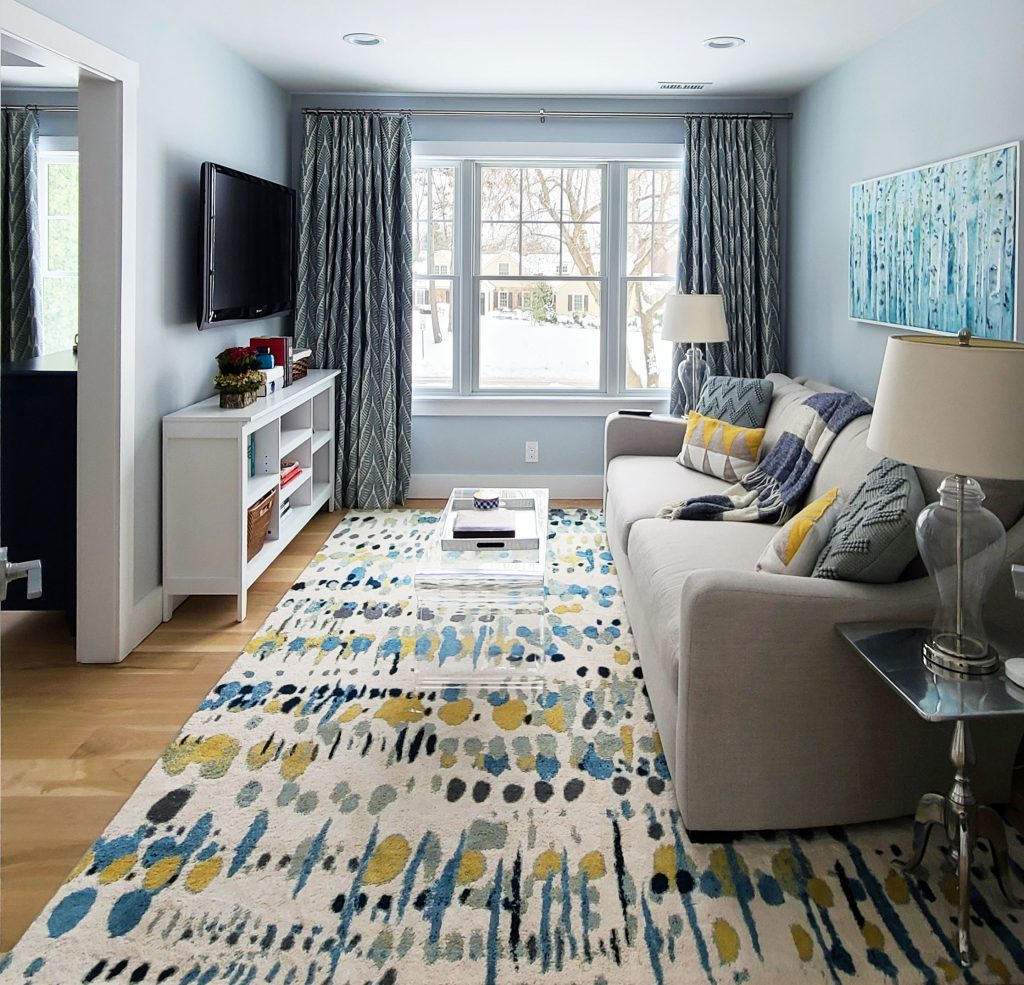 Devon Colorful Master Bedroom Sitting area, custom curtains