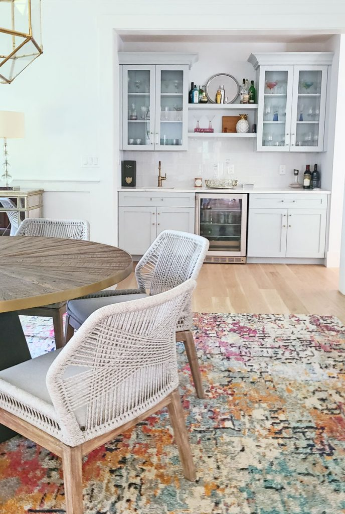 dining room design and butler pantry off kitchen